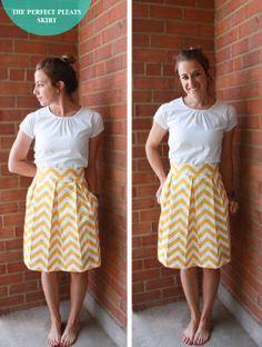 DIY perfect pleats skirt