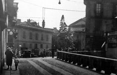 Via Francesco Sforza angolo Corso di Porta Romana - Anni '20