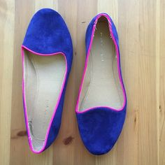(3 for $15) Madden Girl Flats These Madden Girl flats look perfect with white skinnies or a flirty skirt. Royal blue faux suede exterior with hot pink trim make these a standout pair of shoes!! Have been worn-in for you as second picture shows but they still have lots of life in them!! No trades, make an offer! Comment for 3/$15 personal bundle! Madden Girl Shoes Flats & Loafers