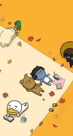 카카오프렌즈 아이폰 카톡 테마 배경화면 : 네이버 블로그 Wallpaper Wa, Lines Wallpaper, Tumblr Wallpaper, Cartoon Wallpaper, Iphone Wallpaper, Cute Lockscreens, Kakao Friends, Tsumtsum, Tumblr Backgrounds