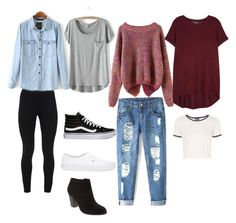 """""""Schy"""" by chlobug77 on Polyvore featuring Peace of Cloth, Vince, Topshop, Vans and Old Navy"""