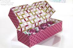 POOTLES Stampin Up UK Advent Countdown 9 Sweetie Box (Box mit Deckel - rechteckig, hier mit Falzbrett)