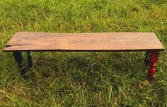 Rustic spindle bench- minus the different color legs