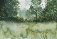 Plein air watercolor landscape