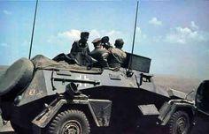 A SdKfz 222 providing forward artillery observation duties