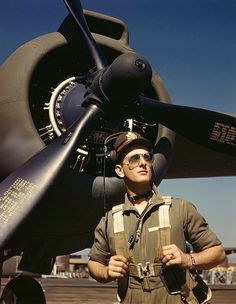 Lieutenant 'Mike' Hunter, Army pilot assigned to Douglas Aircraft Company. Long Beach, CA, USA. Oct. 1942. Photographer: Alfred Palme