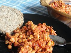 Vegagyerek: Sült bab paradicsommal Bab, Grains, Chicken, Food, Essen, Meals, Seeds, Yemek, Eten