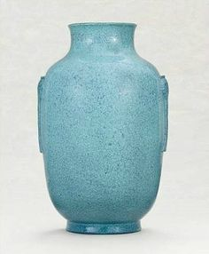 A robins-egg glazed lantern vase, Daoguang impressed six-character seal mark and of the period (1821-1850)