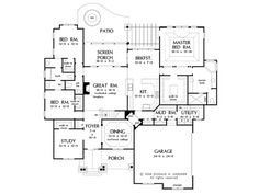 Craftsman House Plan with 3484 Square Feet and 4 Bedrooms from Dream Home Source | House Plan Code DHSW075783