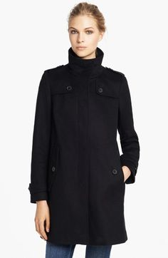 Burberry London Wool & Cashmere Caban Coat available at #Nordstrom to die for. <3