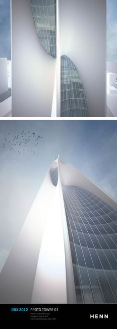 Student Works: DRX 2012 – Minimal Surface Highrise Structures #architecture