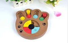 #pet #dog #cat interactive training charm #treat paw shaped fine wood #toy