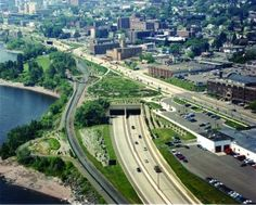 decking over Interstate 35 to create a park connection directly to Lake Superior; Duluth, Minnesota