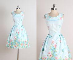 Don-About . vintage 1950s dress . vintage summer dress . 5279