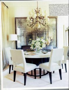Dining Room- Love the round table & chairs