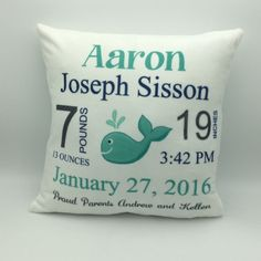 Baby Pillow | Baby Announcement | Baby Stats Pillow | Custom Baby Pillow | Keepsake Gift | New Parent Gift | Personalized Baby | Baby Gfit #PersonalizedBaby #BabyPillow #BabyStatsPillow #CustomBabyPillow #BabyAnnouncement #AnnouncementPillow #BabyGift #KeepsakeGift #PersonalizedPillow #PersonalizedGift