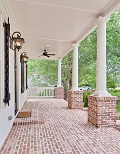 Lovely Southern Living Eastover Cottage Exterior The post Southern Living Eastover Cottage Exterior… appeared first on Enne's Decor . Like the faded brick color jls House Design, Future House, House, Home, House Exterior, Custom Homes, Building A House, New Homes, Brick Porch