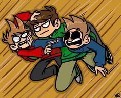 Edd looks 500% done with Tom and Tord's shit.<<<poor Eddy