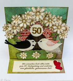 50-th wedding anniversary card
