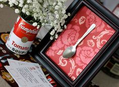 Throw a Soup Party! A Reader's Soup Cook-Off Reader Party Soup Bar, Chili Party, Campbell's Soup Cans, Souper Bowl, Swap Party, Work Party, Party Fun, Perfect Party, Chocolate Covered Espresso Beans