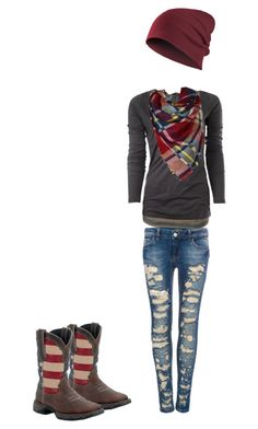 Untitled #42 by reptilegirl99 on Polyvore featuring polyvore, moda, style, Maison Scotch, Pull&Bear, Durango, fashion and clothing