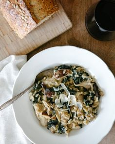 Mushroom and Kale Risotto.