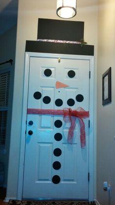 Back of my front door Snowman 2013