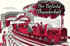 Ealing studios: The Titfield Thunderbolt pressbook with artwork by Edward Bawden