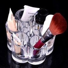 Cosmetic Makeup Brush Display Rack Organizer