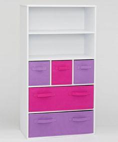 Look at this #zulilyfind! Pink & Purple Storage Bookshelf by 4D CONCEPTS #zulilyfinds