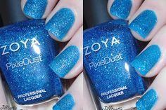 Jilltastic Nail Design Swatch of #ZoyaPixieDust (TM) Textured, Matte, Stunning Nail Polish in Liberty. http://www.zoya.com/content/38/item/Zoya/Zoya-Nail-Polish-Liberty-ZP681.html