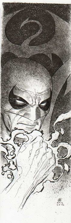 Iron Fist by Jim Cheung - that cross-hatching is amazing. See, Jim can do dark and moody too!