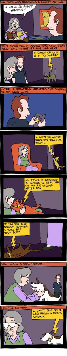 Saturday Morning Breakfast Cereal, keeping it real.  About pets.