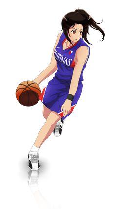 Basketball... Philippines Basketball Anime, Basketball Players, Hetalia Philippines, Filipino Art, Art Reference Poses, Two Girls, Sport Girl, Kawaii, Cartoon