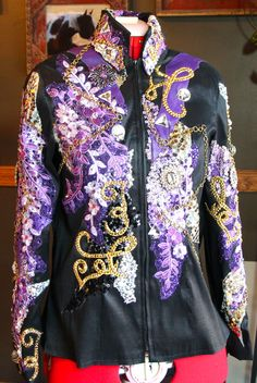 Gorgeous 2014 Sittin Pretty Show Clothing custom made, one of a kind pieces!  Showmanship, Western Pleasure, Western Riding, Trail Jacket.  Like our Facebook Page!