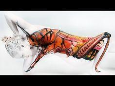 Gesine Marwedel - Grasshopper, Flamingo and SeaHorse | I Love Body Art