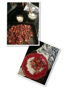 eggplant tomato based confit: Chop up: * A medium sized eggplant ...