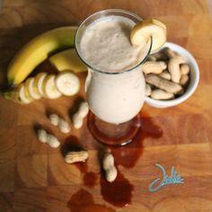 Banana Vanilla Peanut Butter Smoothie WM