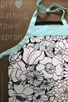 DIY Bathing Towel Apron