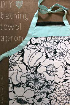 DIY Bathing Towel Apron