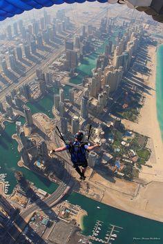 Skydiving Over Dubai