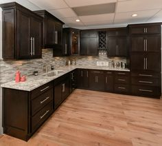 Shaker Kitchen Cabinets brown kitchen cabinets S Natural Wood Kitchen Cabinets, Affordable Kitchen Cabinets, Kitchen Cabinet Door Styles, Shaker Kitchen Cabinets, Kitchen Cabinet Design, Grey Cabinets, Granite Kitchen, Espresso Kitchen Cabinets, Kitchen Flooring