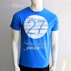 Camiseta oficial PANTIN CLASSIC PRO, evento 27 en color marino. Classic, Mens Tops, T Shirt, Fashion, Sailor, T Shirts, Colors, Puppet, Derby