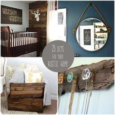 25 DIYs for Your Rustic Home Love the wine rack & crates for the bathroom