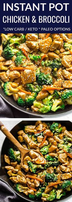 Instant Pot Chicken and Broccoli Stir Fry - a popular Chinese takeout favorite made easily in the pressure cooker in under 30 minutes! Best of all, simple to customize and perfect for busy weeknights. Made with healthy vegetables like broccoli & shredded carrots. Includes substations for low carb, paleo, and keto. Delicious & way better than the local takeout place. #instantpot #lowcarb #keto #paleo #cashews #chicken #stirfry #takeoutfakeout #healthy Slow Cooker Recipes, Paleo Recipes, Crockpot Recipes, Chicken Recipes, Cooking Recipes, Healthy Pressure Cooker Recipes, Keto Chicken, Pressure Cooking, Healthy Chicken