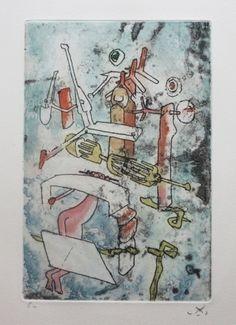 Aguafuerte y aguatinta - Roberto Matta - Songe songé