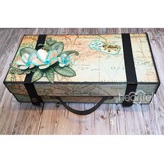 Vintage Suitcase project from #HeartfeltCreations w/ Young At Heart Collection.