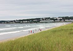 Lots of sandy space on Ogunquit Beach for games and sunbathing, and easy to get to from The Dunes on the Waterfront.