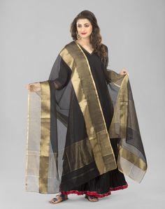 Silk Cotton Maheshwari Royal Dupatta