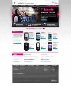 T-Mobile Prepaid Site by Bryan Hall, via Behance